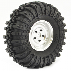 FASTRAX 1:10 CRAWLER SWAMPER 1.9 SCALE WHEEL ø118MM TYRE (SILVER)