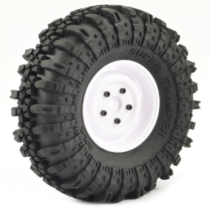 FASTRAX 1:10 CRAWLER SWAMPER 1.9 SCALE WHEEL ø118MM TYRE (WHITE)