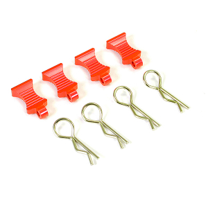 FASTRAX PRO ALUMINIUM EASYPULL TABS & BODYCLIPS (4PC) - RED