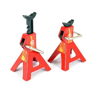 FASTRAX 6-TON ADJUSTABLE HEIGHT METAL JACK STAND (2PC)
