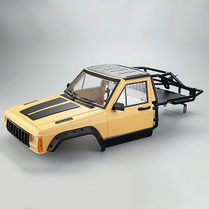 FASTRAX 1/10 ROCKEE PICK-UP & REAR CAGE HARDBODY 313-324mm - YELLOW