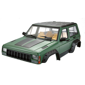 FASTRAX 1/10 ROCKEE FULLCAB & INTERIOR HARDBODY 313mm - GREEN