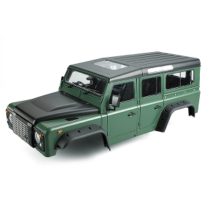 FASTRAX 1/10 RANGER XL HARD BODY & INTERIOR SET 313mm - GREEN
