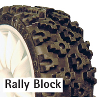 Fastrax Rally Block Tyre Set (4) With Foam Inserts