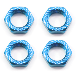 Fastrax 17mm X 1.0 Blue Serrated Wheel Nuts fits RC8 (4Pcs)