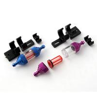 Fastrax Deluxe Fuel Filter w/Mount - Purple