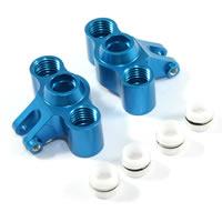 FASTRAX TRAXXAS MINI SLASH/MINI E-REVO BLUE FRONT/REAR KNUCKLE ARM