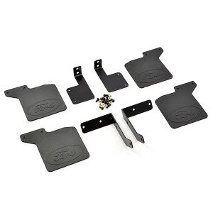 FASTRAX TRX-4 RUBBER MUDFLAPS & ALLOY MOUNTS FOR BRONCO