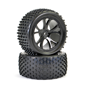 FTX VANTAGE REAR BUGGY TYRE MOUNTED ON WHEELS (PR) - BLACK