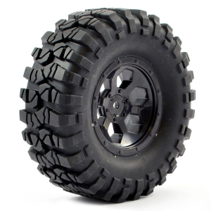 FTX OUTBACK PRE-MOUNTED 6HEX/TYRE (2) - BLACK