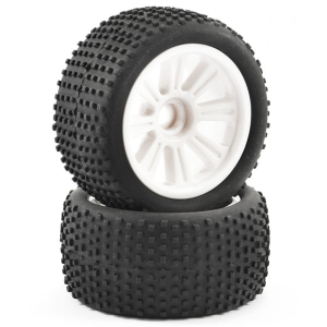 FTX COMET TRUGGY FRONT MOUNTED TYRE & WHEEL WHITE