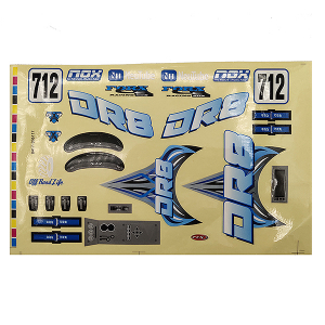 FTX DR8 DECAL - BLUE