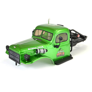 FTX TEXAN 1/10 CAB BODYSHELL & ROLL CAGE ASSEMBLY - GREEN