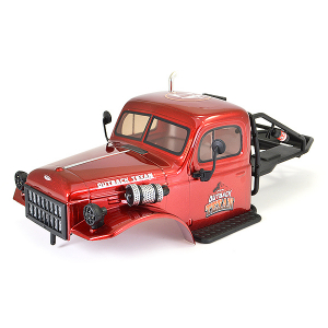FTX TEXAN 1/10 CAB BODYSHELL & ROLL CAGE ASSEMBLY - RED