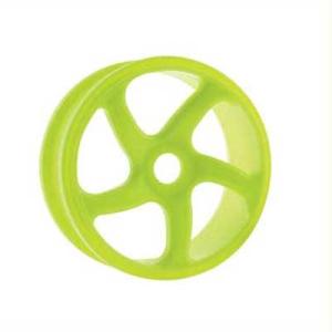HoBao Trailing 5-spoke 1/8th Buggy Wheels - Pair - Yellow