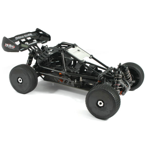 HOBAO HYPER CAGE BUGGY ELECTRIC ROLLER CHASSIS 80% PRE-ASSEMBLED - BLACK