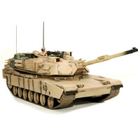 HOBBY ENGINE M1A2 ABRAMS BATTLE TANK - DESERT