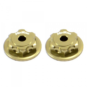 HOBAO MT DOUBLE LOCK DUSTPROOF WHEEL NUT/BUTTON SCREW (2) BRONZE