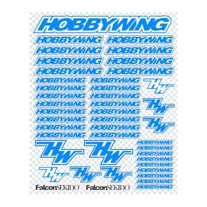 HOBBYWING BLUE/WHITE DECAL SHEET