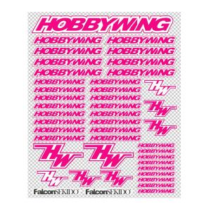 HOBBYWING PINK/WHITE DECAL SHEET