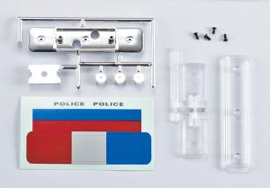 KILLERBODY POLICE ROOF WARNING LIGHT W/O LED FOR 1/10