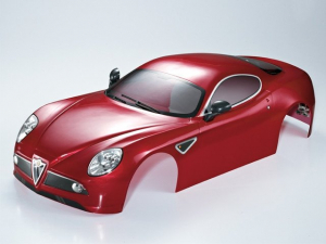 KILLERBODY ALFA ROMEO 8C 1/7 FINISHED BODY DARK METALLIC RED
