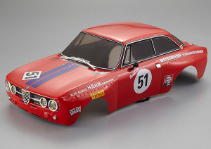 KILLERBODY ALFA ROMEO 2000 GTAM 190MM FINISHED BODY RED