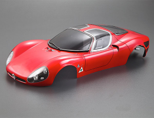 KILLERBODY ALFA ROMEO TIPO33 STRADALE 190MM FINISHED BODY RED