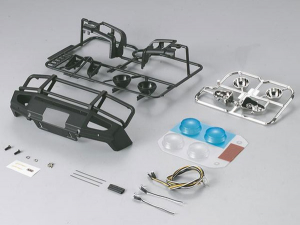 KILLERBODY 1/10TH ALLOY BUMPER W/LED UPGRADE SETS MATT/BLACK