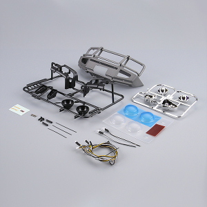 KILLERBODY 1/10 ALLOY BUMPER W/LEDS UPGRADE SETSSILVER-GREY
