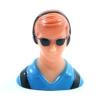 Miracle Civilian 1/10th Pilot - Blue (h40xl38xw25mm)