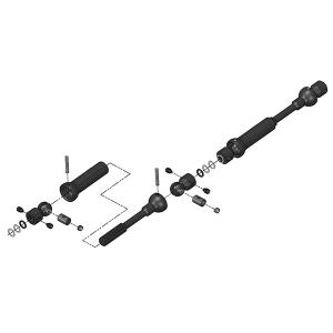 MIP X-DUTY, CENTER DRIVE KIT, 110MM X 135MM W/ 5MM HUBS, AXIAL SCX10 DEADBOLT