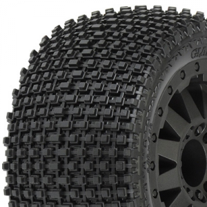 PROLINE GLADIATOR 2.8 ALL TER. TYRES ON BLK F11 WHEELS (2WD)