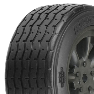PROTOFORM VTA FRONT TYRES 26MM MOUNTED ON BLACK WHEELS (PR)