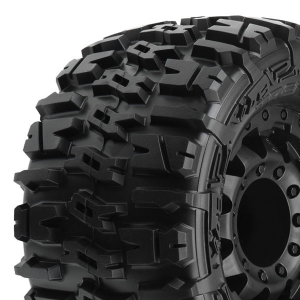 PROLINE TRENCHER 2.8 ALL TER. TYRES ON BLK F11 WHEELS (17MM)