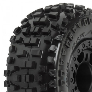 PRO-LINE BADLANDS SC 2.2/3.0 M2 FRONT TYRES MOUNTED SPLIT 6 BLK FOR SLASH