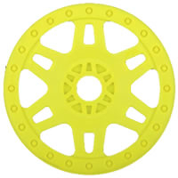 Pro-Line 'Split Six' 1/8 Buggy Wheels (Sc W/Adaptor) Yellow