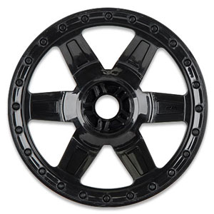 PRO-LINE DESPERADO 3.8 BLACK 1/2 OFFSET WHEEL (TRAXXAS BEAD) 17MM HEX