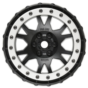 PROLINE IMPULSE PRO-LOC BLACK WHEELS w/GREY RING XMAXX (F/R)