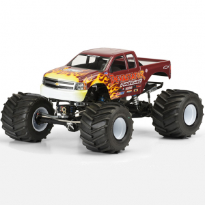 Pro-Line Chevy Silverado Clear Body Solid Axel Monster Truck