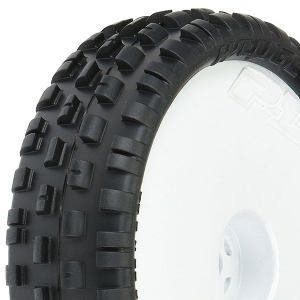 PROLINE 'WEDGE SQUARED' 2WD Z4 FRONT TYRES + SLIM WHITE WHEEL