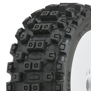 PROLINE 'BADLANDS MX' M2 PRE- MOUNT VELOCITY WHITE WHEELS PR