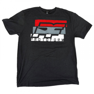 PROTOform PF SLICE BLACK TRI-BLEND T-SHIRT (L)