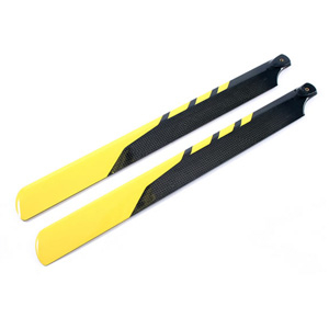 PRO3D CARBON FIBRE ROTOR BLADE 325mm FOR ELEC 450 HELI - YELL