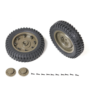 ROC HOBBY 1:6 1941 MB SCALER REAR WHEELS ASSEMBLY (1 Pair)