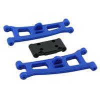 RPM Assoc GT2/Sc10 Front A-Arms & Bulkhead - Blue