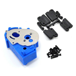RPM TRAXXAS 2WD HYBRID GEARBOX HOUSING AND REAR MOUNTS BLUE
