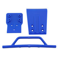 RPM Front Bumper & Skid Plate For Traxxas Slash 4X4 - Blue