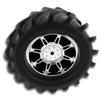 RPM Standard Width 'Monster Spider' Wheels - Chrome