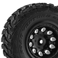 RPM TRAXXAS SLASH 2WD REAR BLACK WHEELS (x2)